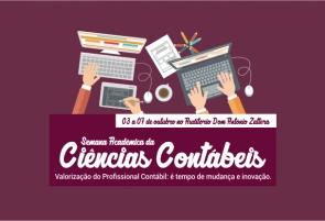 Curso de Ciências Contábeis inscreve para Semana Acadêmica
